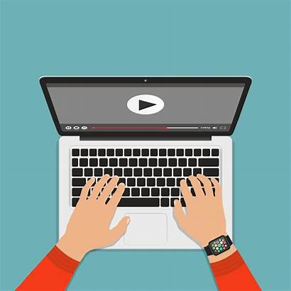 Keyboard Typing Computer Laptop Hands Vector Streaming