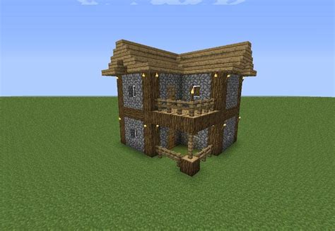 easy  minecraft house pinterest home plans blueprints