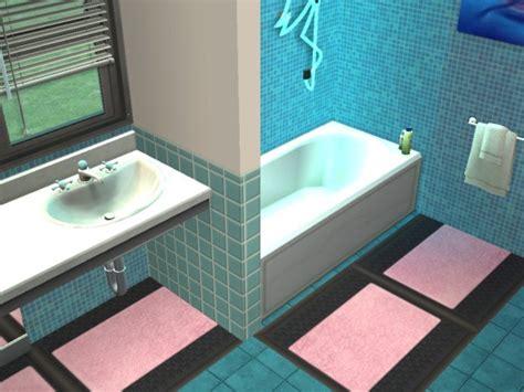 tapis salle de bain vieux rose