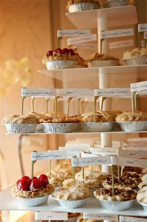 Picture Of A Fall Wedding Dessert Bar With Cute And Tasty