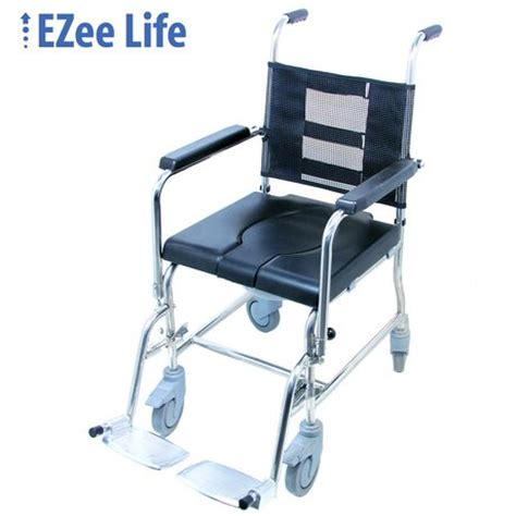 ezee 17 quot seat width portable rehab commode with