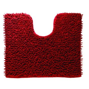 wc mat gamma sealskin toiletmat velce rood 60x50 cm toiletmatten
