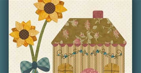 shabby fabrics country cottages free patterns block 8 country cottage shabby fabrics free patterns applique pinterest shabby and free