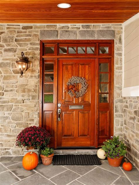 Beautiful Flowers Sweet Wreath Lacquered Wood Front Door
