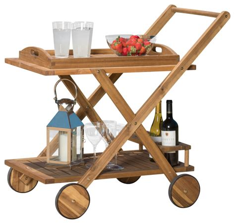 kadence wood serving cart traditional outdoor serving