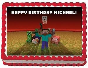 Edible MINECRAFT Edible Image Cake Topper for by ...