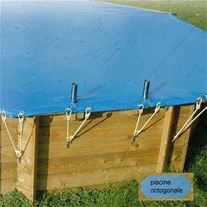 bache de securite ubbink pour piscine bois octogonale 300 With bache pour piscine hors sol octogonale