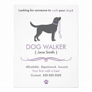 dog walker walking business flyer template zazzle With dog walking flyer template free
