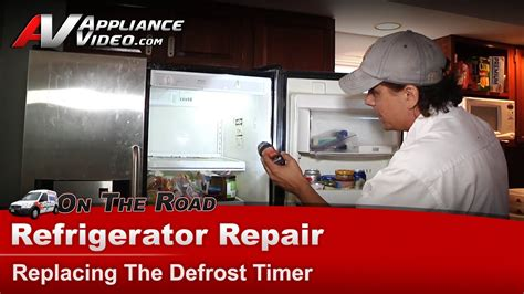frigidaireelectrolux refrigerator repair replacing  defrost timer frswscb youtube
