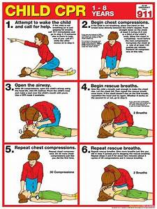 Child Cpr First Aid Wall Chart Poster  2013 Aha Guidelines
