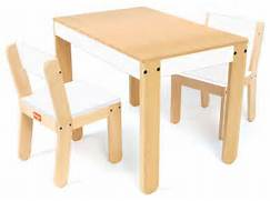 Modern Child Table And Chair Set by P 39 Kolino Little One 39 S Table And Chair Set In White Modern Kids Ta