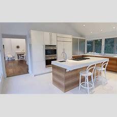 Centre Island House Contemporary White Kitchen