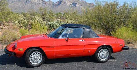 1978 Alfa Romeo by 1978 Alfa Romeo Spider Veloce Convertible 2 Door 2 0l