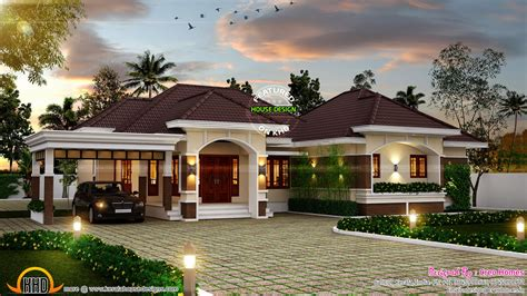 bungalow house designs outstanding bungalow in kerala kerala home design and