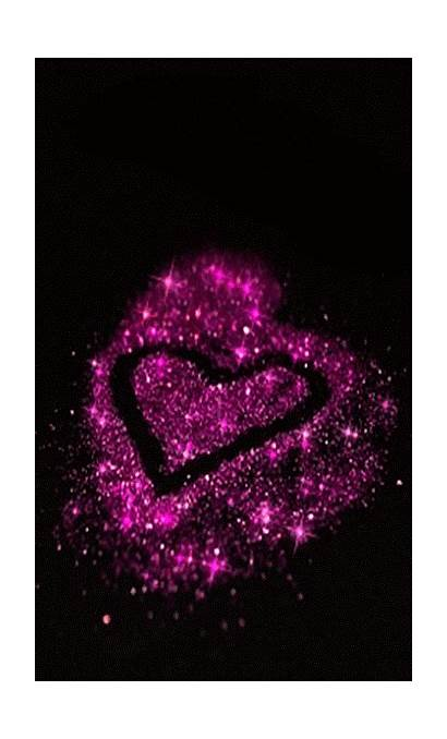 Heart Giphy Purple Gifs Hearts Flores Fondos