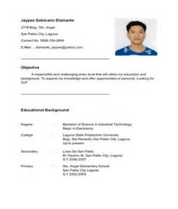 resume format for ojt information technology students should know sle resume objective for ojt students