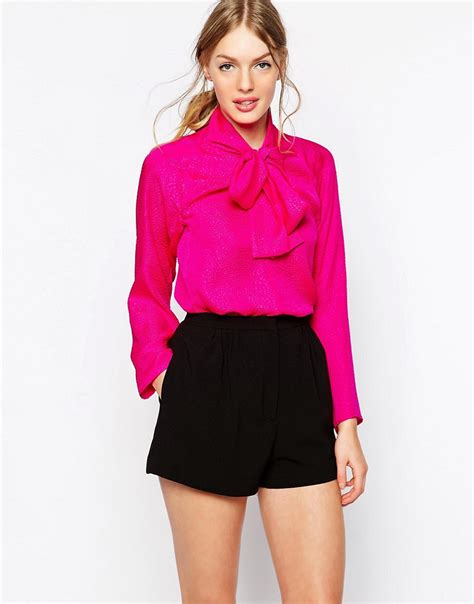 tie neck blouses see by see by tie neck blouse at asos