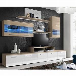 Meuble Tv Mural Blanc : meuble tv mural design 39 logo 250cm blanc ch ne ~ Dailycaller-alerts.com Idées de Décoration