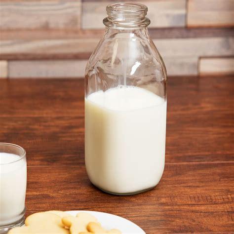 Libbey 92129 33.5 oz. Glass Milk Bottle   24/Case