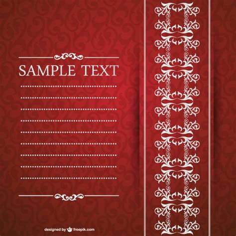 Elegant invitation design Vector Free Download