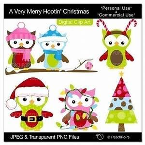 Buy 2 Get 1 Free SALE - Christmas clip art owls digital ...