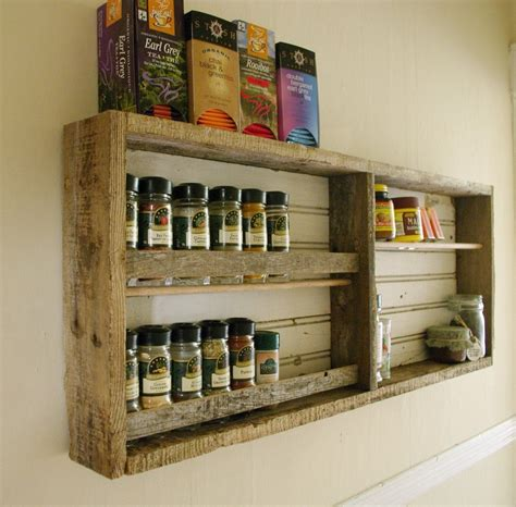 Kitchen Spice Racks by Reclaimed Wood Spice Rack