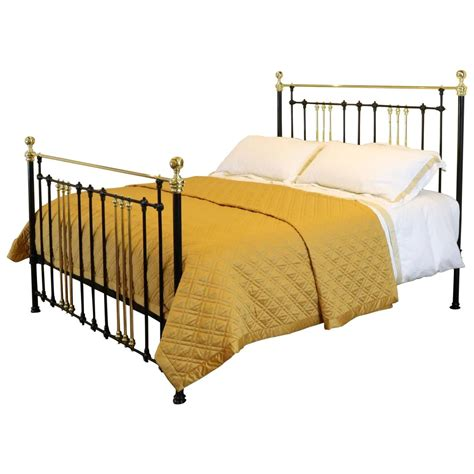 cast iron headboard brass and cast iron bed msk22 at 1stdibs