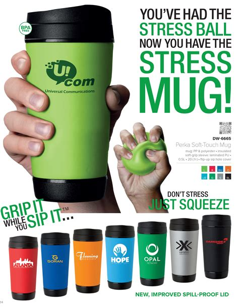 soft touch travel mug  stress ball unique coffee mugs