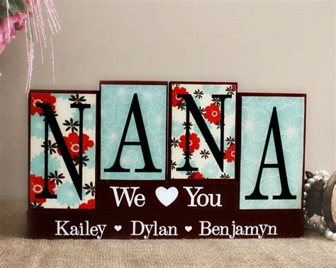 nana wooden sign mothers day present by timelessnotion on etsy