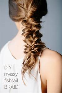 DIY Messy Fishtail Braid | DIY Weddings | OnceWed.com