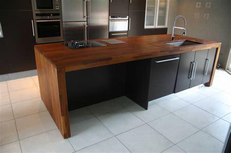 plan de travail cuisine en bois cuisine noir plan de travail bois