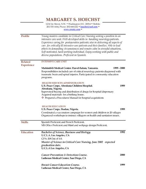 best photos of exles of a resumes sle