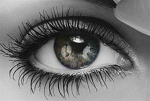 black colored eyes | Black White and color eye by ...