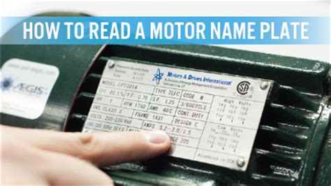 read  motor nameplate