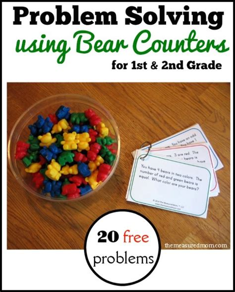 problem solving activity for in 1st amp 2nd grade 719 | problem solving using bear counters 590x734
