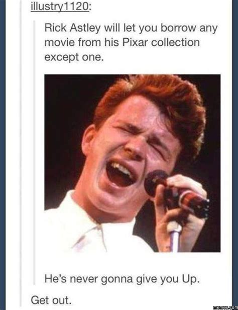 Rick Roll Meme - he s never gonna give you up memes com
