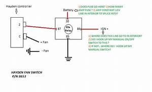 Wiring Electric Fan With Hayden Sensor