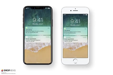 iphone running new iphone 8 renders show the device running ios 11