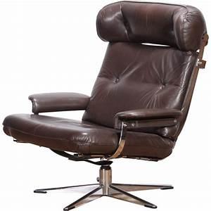 fauteuil pivotant vintage en cuir 1950 design market With fauteuil pivotant cuir design