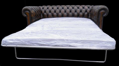 canapé lit anglais canapé chesterfield lit 3 places marron patiné longfield