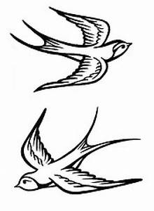 Birds Tattoos For You: Sparrow Bird Tattoos Designs