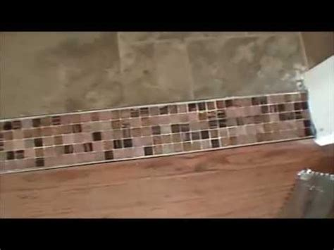 how to create a beautiful tile transition strip youtube
