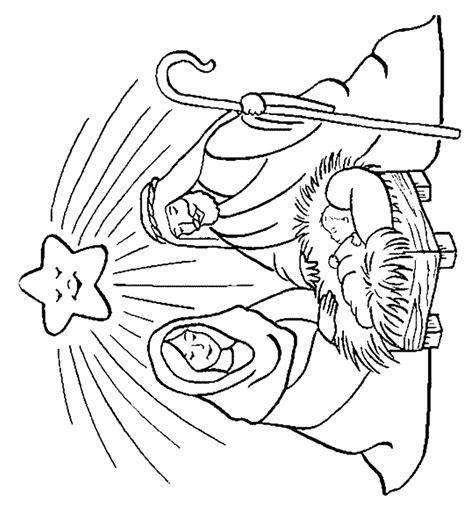 dessin creche de noel gratuit comment decorer une creche