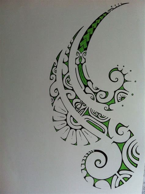 green polynesian tattoo drawing tattoo drawings