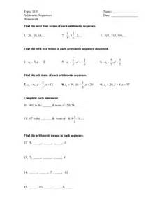 arithmetic and geometric sequence worksheet geometric and arithmetic sequences worksheet fioradesignstudio
