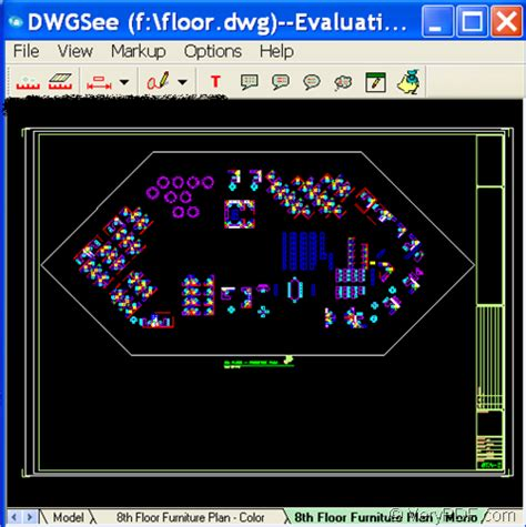 open cad dwgdxf file  autocad program