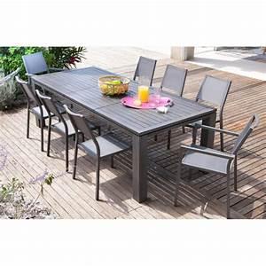 Table Aluminium Extensible : table de jardin extensible fiero en aluminium 200 300x103x73cm ice proloisirs ~ Teatrodelosmanantiales.com Idées de Décoration