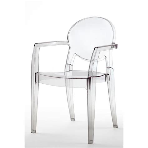 chaise transparente avec accoudoir chaise transparente design avec accoudoirs ig achat