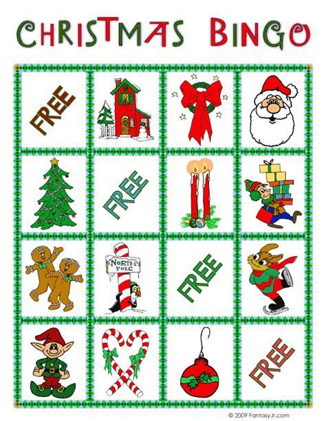 christmas bingo card 10 woo jr kids activities