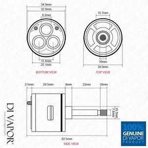 3 Way Shower Valve Flow Diverter Cartridge